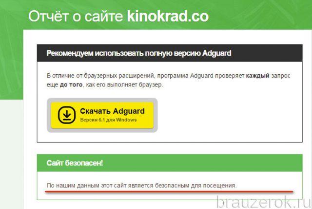 статус сайта