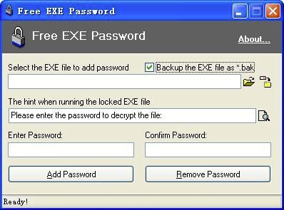 Free Exe Password