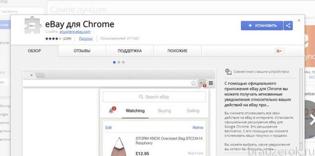 eBay для Chrome