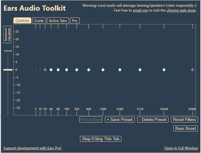 Ears: Bass Boost, EQ Any Audio
