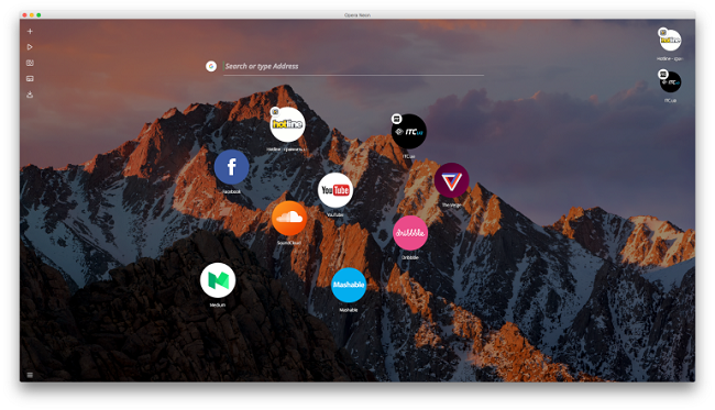 Неон для Mac OS