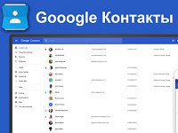 контакты в Гугл-аккаунте