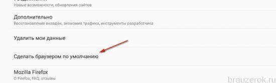 назначение браузер главным