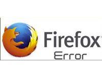 ошибка в firefox